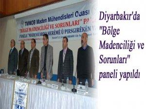 Diyarbakır'da ''Bölge Madenciliği ve Sorunları'' paneli yapıldı