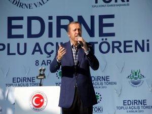 Başbakan Erdoğan, Edirne'de konuştu
