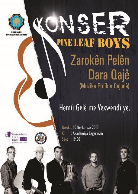 Koma Cajûnan Pine Leaf Boys li Amedê konserê dide