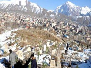 Hakkari'deki mezarlıklar yeşillendiriliyor