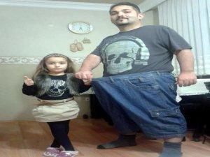 Kızı için tam 73 kilo verdi