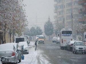 Diyarbakır'da kar yeniden başladı