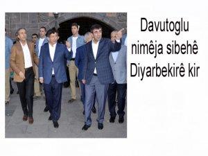Davutoglu nimêja sibehê Diyarbekirê kir