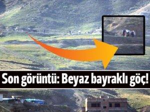 Cizre'den son görüntü: Beyaz bayrakla göç!