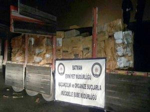 138 bin paket kaçak sigara ele geçirildi