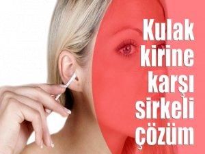 Kulak kirine karşı sirkeli çözüm