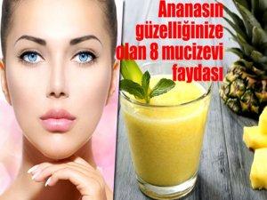 Ananasın güzelliğinize olan 8 mucizevi faydası