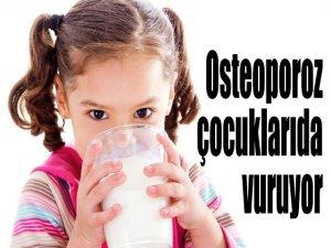 Osteoporoz çocuklarıda vuruyor