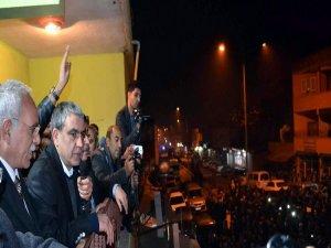 Tahliye edilen BDP Milletvekili İbrahim Ayhan, Şanlıurfa'da