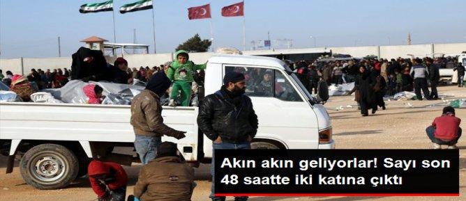 Son 48 Saatte 35 Bin Suriyeli Sınıra Dayandı
