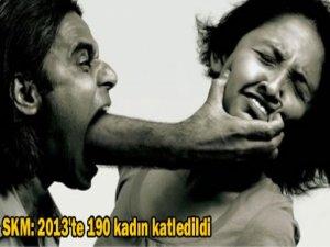 SKM: 2013'te 190 kadın katledildi