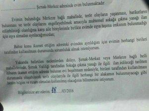 Şırnaklılar imzaladı: Evin kullanımından sorumlu değilim