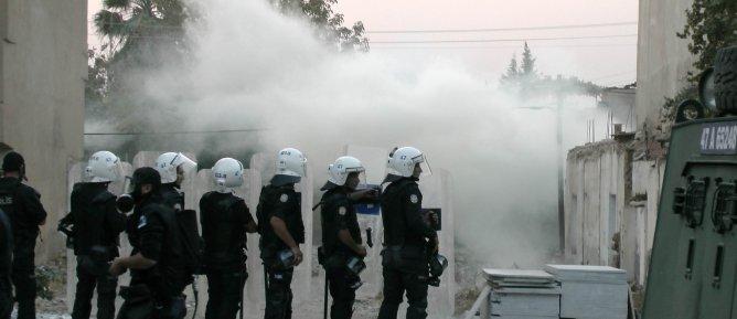 Gökkan'ı ziyaret eden kitleye polis müdahalesi