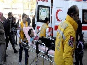 Çatışmada yaralanan sivil 5 Suriye'li Akçakale'ye getirildi
