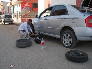 Bir gecede 110 aracın lastiği patlatıldı