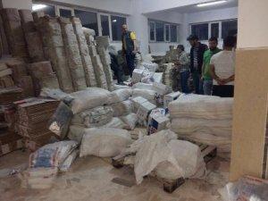 7 bin paket kaçak sigara ele geçirildi