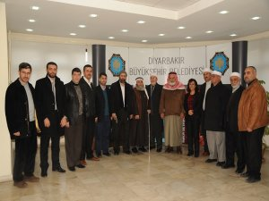Filistinli heyetten Diyarbakır Belediyesi ziyareti