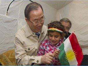 Ban Ki Moon Rojavalı mülteci kampında