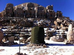 Nemrut Dağı'ndaki heykellere kılıf takıldı