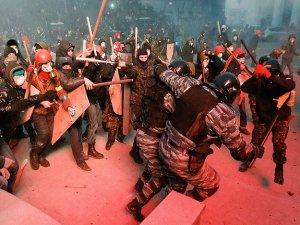 Kiev'de çatışma çıktı