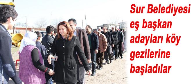 Sur Belediyesi eş başkan adayları köy gezilerine başladılar