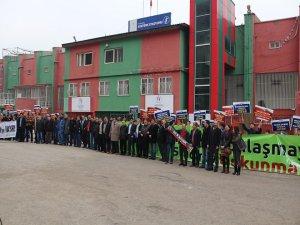 Diyarbakır'da 'Şehir Stadı AVM olmasın' eylemi