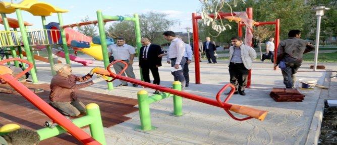 Çocuk Hastanesi'ne oyun parkı kuruldu