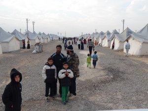 Viranşehir'deki çadır kent basına tanıtıldı