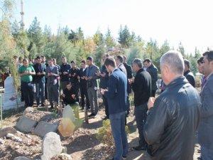 Öldürülen avukat mezarı başında anıldı
