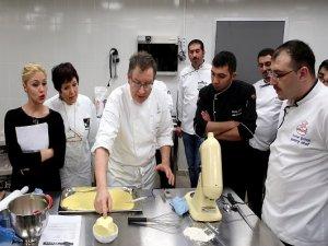 Fransız pastacıdan Gaziantepli aşçılara pasta tarifi