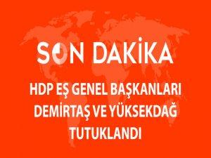 Demirtaş ve Yüksekdağ tutuklandı