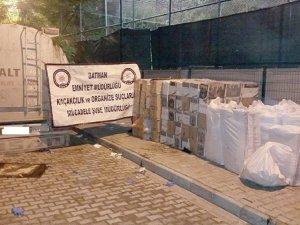390 bin TL'lik kaçak sigara ele geçirildi