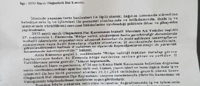 Diyarbakır'da DBP'li 12 Belediyenin Çalışmaları Kaymakamlık İznine Bağlandı