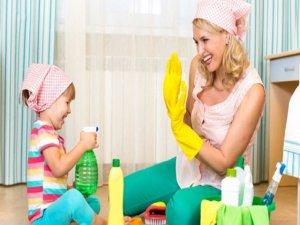 Çocuk evde yokken temizlik yapın