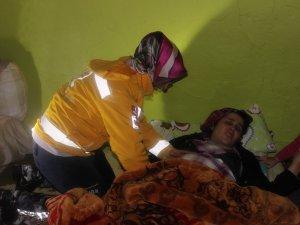 Kardan mahsur kalan hamile kadın kurtarıldı