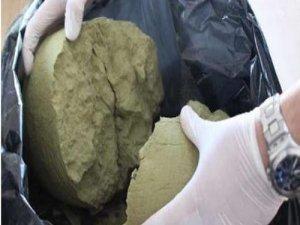Ergani'de 157 kilogram esrar ele geçirildi