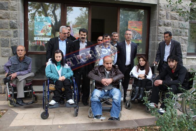 Amed Engelliler Meclisi'nden Gökkan'a destek