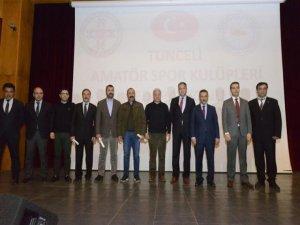 Tunceli belediyesinden amatör kulüplere destek