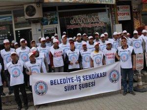Belediye iş sendikası 1 Mayıs İşçi Bayramı'nı kutladı