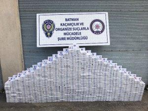 Piyasa değeri 117 bin lira olan kaçak sigara ele geçirildi