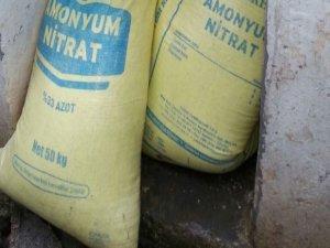 100 kilogram amonyum nitrat ve mühimmat ele geçirildi