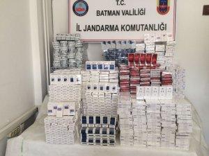 6 bin 258 paket kaçak sigara ele geçirildi