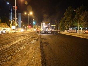Elazığ Caddesi asfaltlanıyor