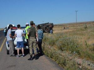 Zırhlı polis aracı devrildi: 6 yaralı