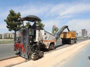 Elazığ Caddesi'ndeki asfalt çalışması sürüyor
