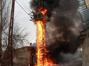 Bismil'de trafo yangını
