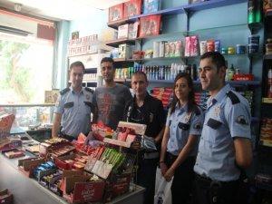 Polisten esnafa ziyaret