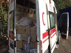 Batman'daki sahte ambulansla yapılan kaçak sigara sevkiyatı