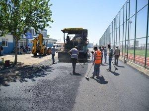 Seyrantepe Spor Kompleksi'nin bahçesi asfaltlandı