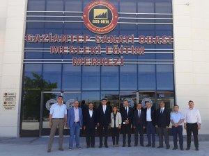 Suriyeli iş adamlarından GSOMEM'e ziyaret